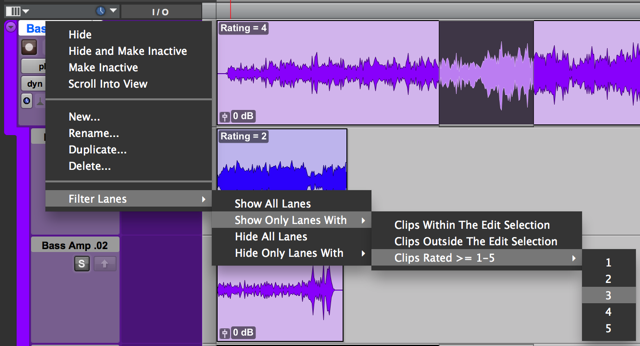 Pro tools tips - playlists and comping